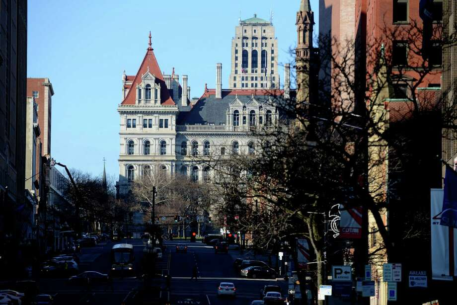 View of the State Capitol Building looking up State Street Monday, Dec. 7, 2015, in Albany, N.Y. (Will Waldron/Times Union) Photo: Will Waldron