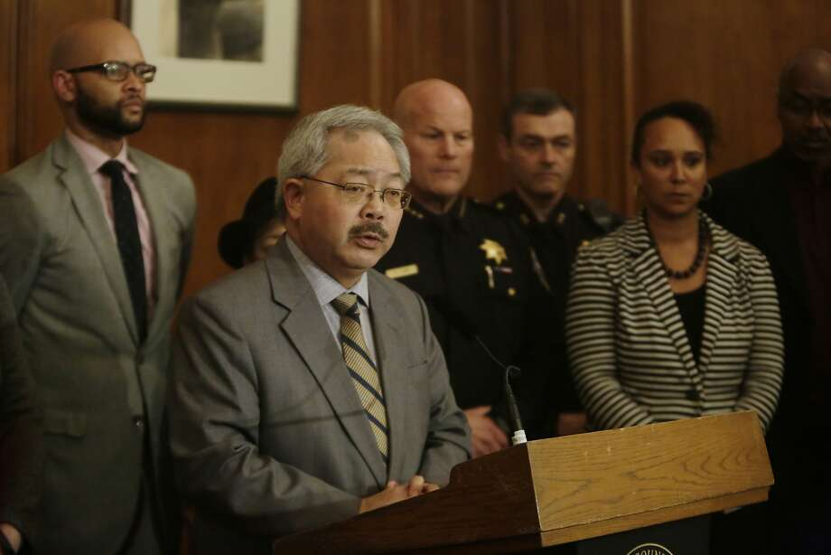 Mayor Ed Lee speaks during a news conference regarding the officer involved shooting of  Mario Woods in the Bayview District last week in the Mayor's Office at City Hall on  Monday, December 7,  2015 in San Francisco, Calif. Photo: Lea Suzuki, The Chronicle