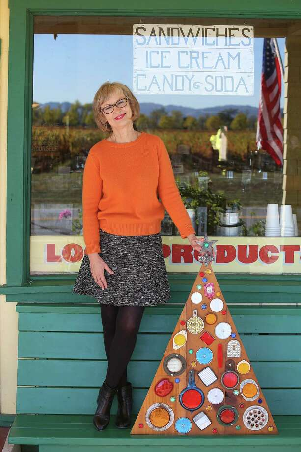 "Jimtown Store owner Carrie Brown, author of ""The New Christmas Tree"", shows her first tree in Healdsburg, California, on Wednesday, November 11, 2015. Photo: Liz Hafalia, Staff / ONLINE_YES"
