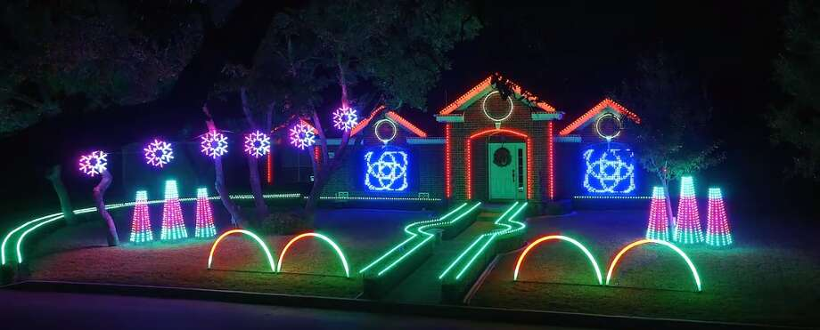 johnson familys home is decked with more than 7000 programmed lights and was even featured