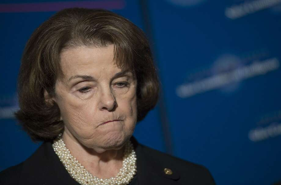 Sen. Diane Feinstein, D-Calif., publicly denounced the Republicans' attempt to rewrite dought legislation. Photo: Jim Watson, AFP / Getty Images