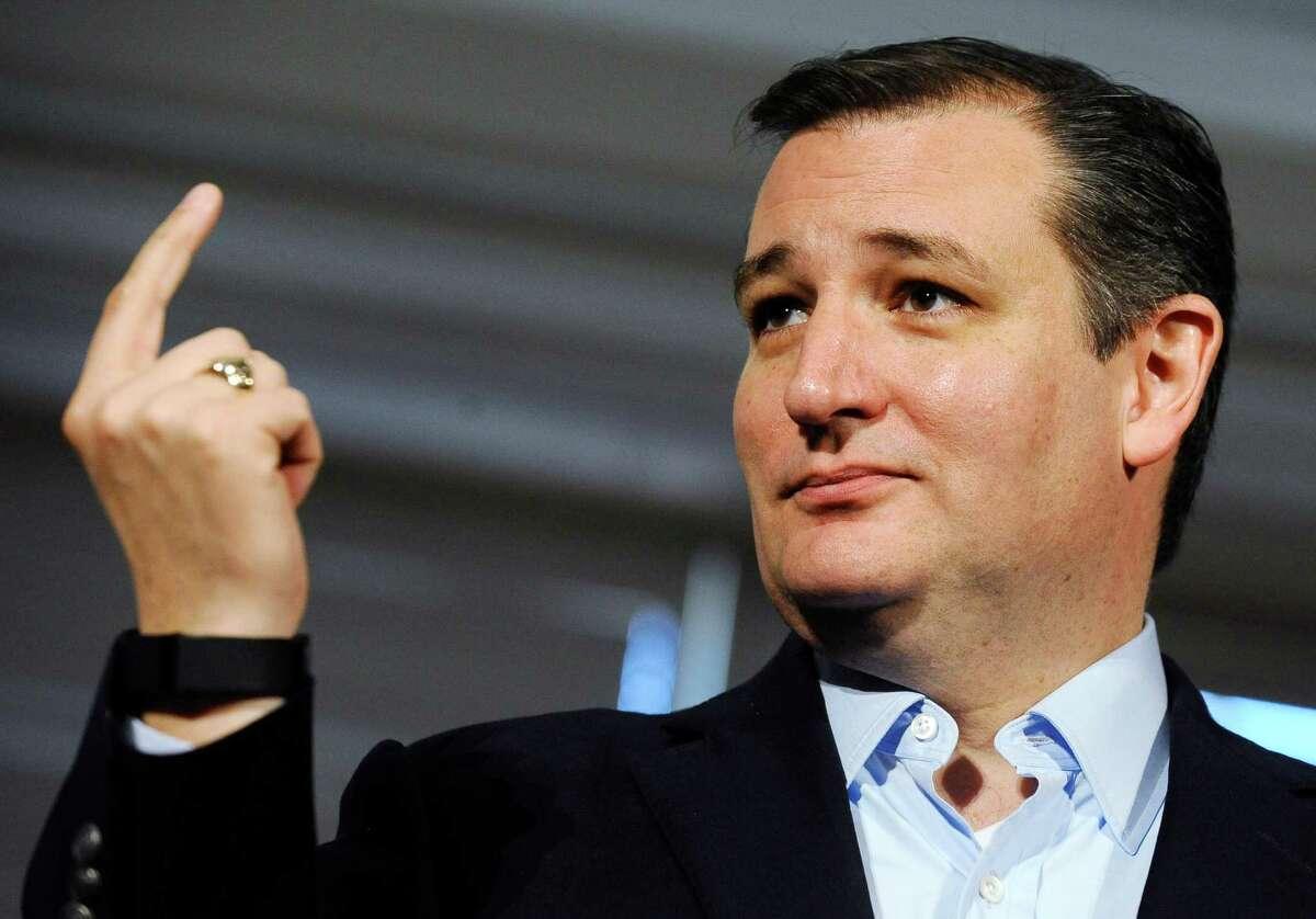 Republican presidential candidate Sen. Ted Cruz, R-Texas, speaks during a town hall meeting at Furman University on Monday, Dec. 7, 2015, in Greenville, S.C. (AP Photo/Rainier Ehrhardt)