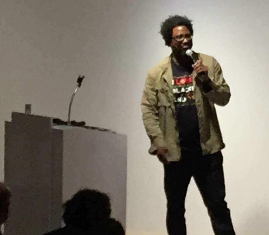 W. Kamau Bell at fundraiser for Gubbio Project