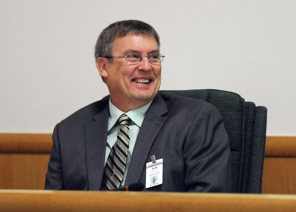 Charlton Supervisor Alan Grattidge during the Saratoga County Board of Supervisorsmeeting on Tuesday Jan. 3, 2012 in Ballston Spa, N.Y (Philip Kamrass / Times Union )