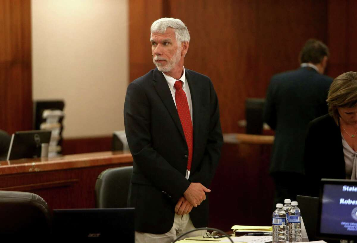 Jury selection in the case of defendant Dr. Robert Yetman, accused of inappropriately touching a young boy while on the job, in the 176th District Criminal Court at the Harris County Criminal Courts Thursday, Oct. 29, 2015, in Houston, Texas.