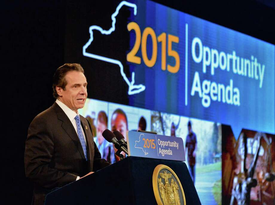 Gov. Andrew Cuomo delivers his State of the State address and budget proposal at the Empire State Plaza Convention Center Wednesday, Jan. 21, 2015, in Albany, N.Y.   (John Carl D'Annibale / Times Union archive) Photo: John Carl D'Annibale / 00030240B