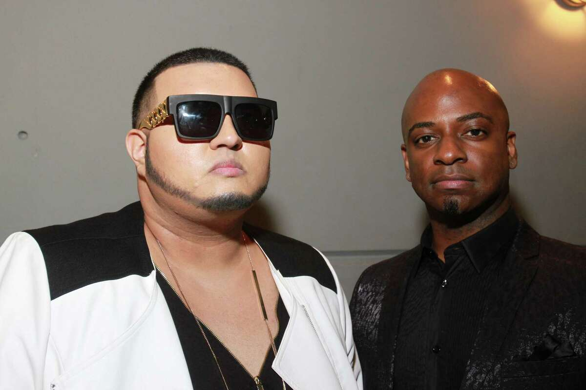 People attending the F.A.C.E. Awards, one of the largest events in the L.G.B.T. community. Rich Lux, left, videographer.