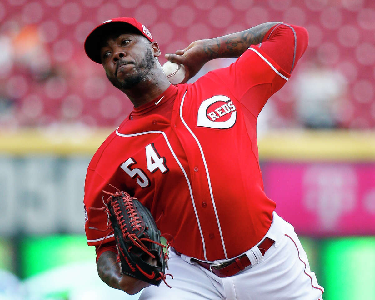 Hard-throwing closer Aroldis Chapman made the All-Star team in each of his four seasons with the Cincinnati Reds.