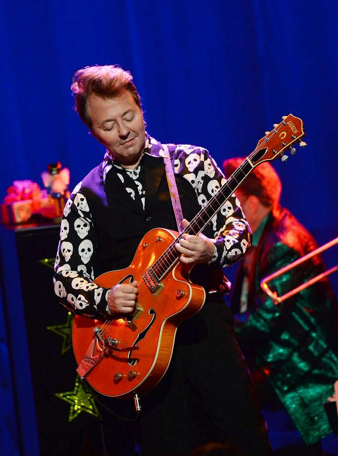 """NEW YORK, NY - DECEMBER 01:  Musician Brian Setzer performs a Private """"Christmas Rocks"""" Concert For SiriusXM Listeners at the Hard Rock Cafe, Times Square on December 1, 2015 in New York City.  (Photo by Debra L Rothenberg/Getty Images for SiriusXM) Photo: Debra L Rothenberg, Getty Images For SiriusXM"""