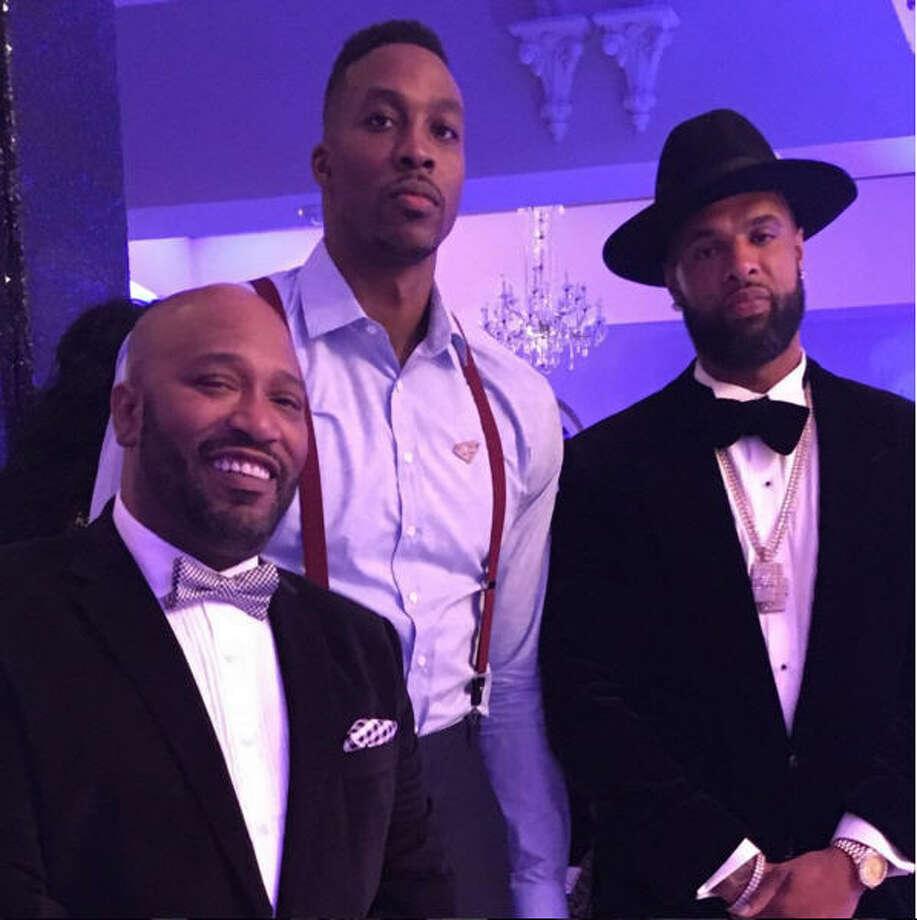 Dwight Howard celebrates his 30th birthday with Bun B and Slim Thug. Photo: Instagram