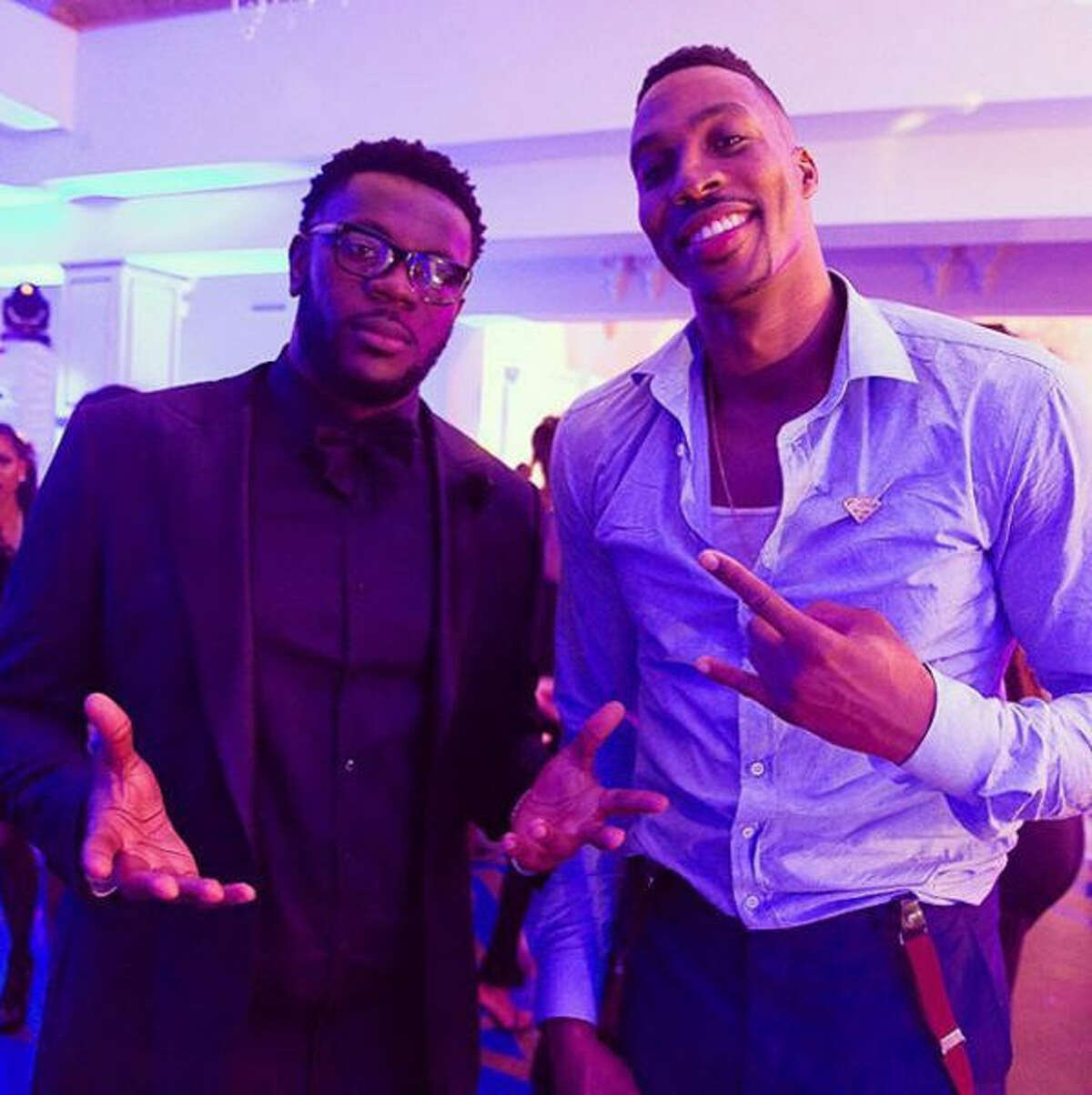 Dwight Howard at his 30th birthday party Sunday in Houston.