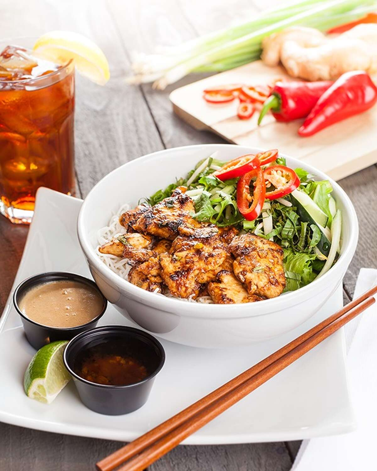 Mama Fu's Asian House opened it second Houston location on Dec. 7 at 12341 FM 1960 Rd W. Shown: Vietnamese vermicelli (thin rice noodles and fresh greens with wok-seared chicken).