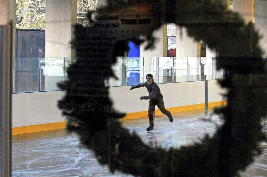 Alex Schettino skates at the Swinburne Park Ice Rink on Tuesday, Dec. 8, 2015, in Albany, N.Y. The rink opened for the season on Monday. (Michael P. Farrell/Times Union) Photo: Michael P. Farrell / 10034552A
