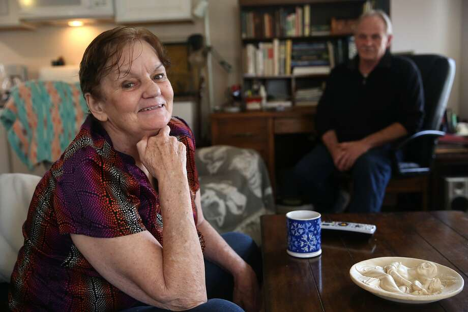 Nolen Bradley (behind right) with his wife of thirty years Sherill Bradley (left) at their home in Calistoga, California, on Tuesday, December 8, 2015.   Sherill was diagnosed with dementia earlier this year. Photo: Liz Hafalia, The Chronicle