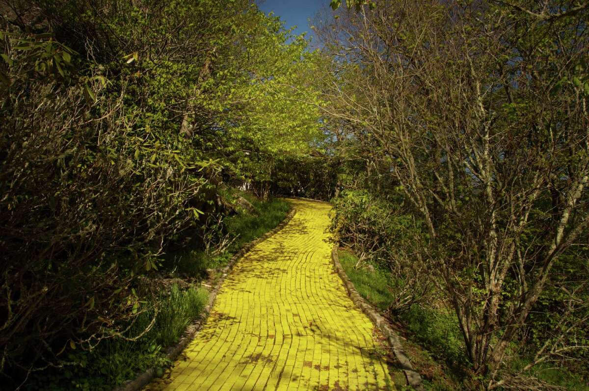 Even though it was built in 1970, the Land of Oz's Yellow Brick Road remains a bright yellow today.