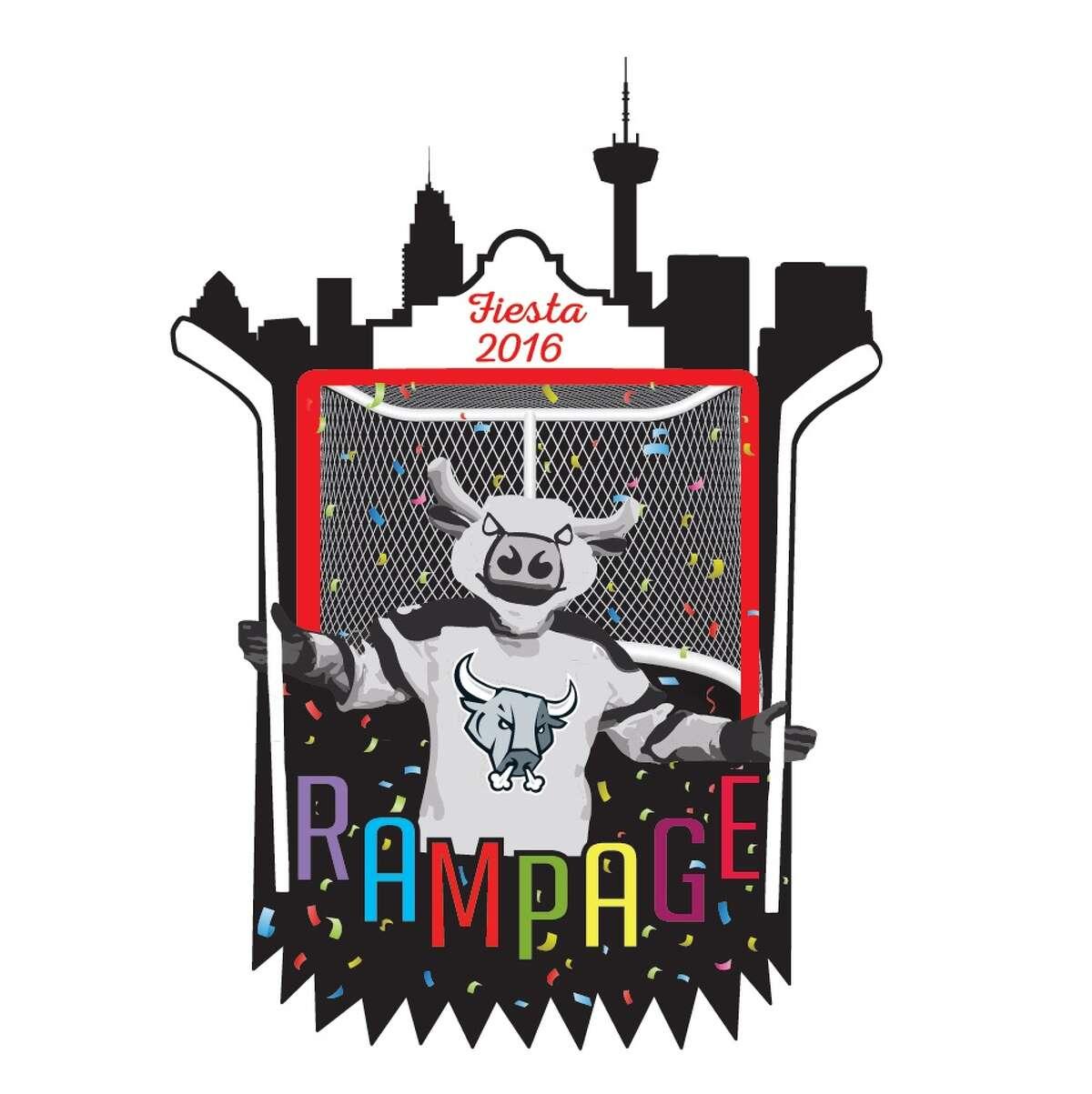 San Antonio Rampage Fiesta Medal design for 2016, by Jason Smith