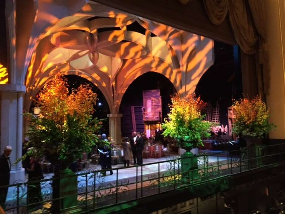 Stage at San Francisco Opera House — set for dinner