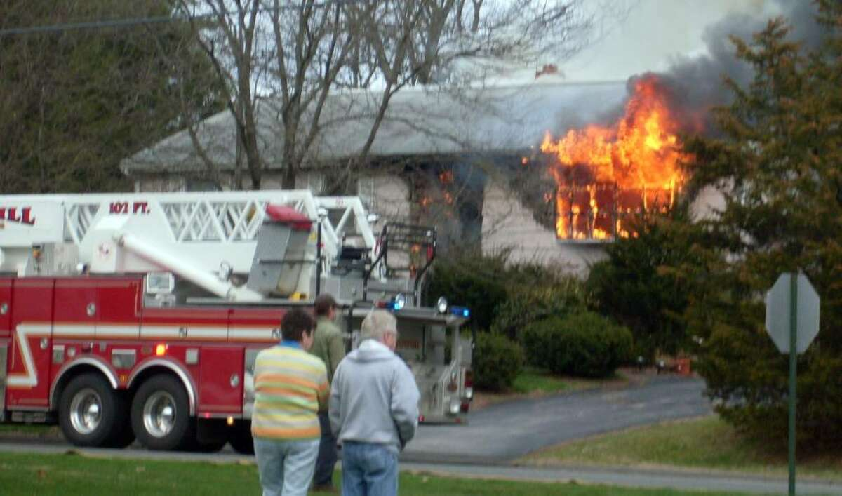 A Natalie Road homeowner has been displaced following a serious blaze Wednesday afternoon. (Photo/Ashley Laufer)