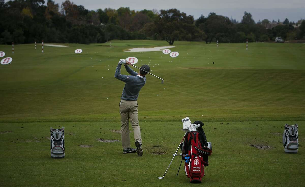 Stanford University golfer Maverick McNealy, the consensus national player of the year in 2015 and No. 2-ranked amateur in the world during a recent practice on Tuesday December 8, 2015, in Stanford, Calif.