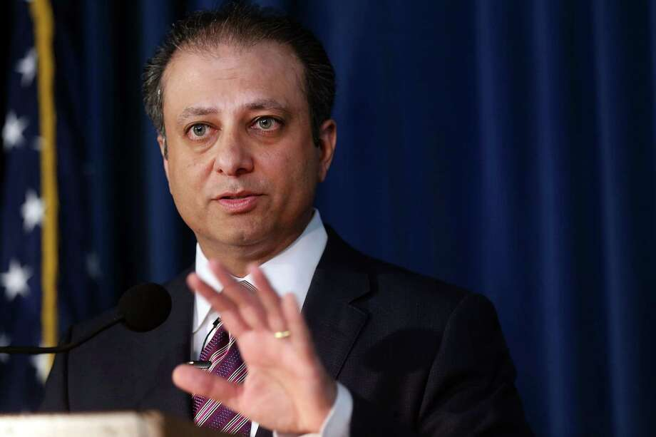 NEW YORK, NY - OCTOBER 06:  Preet Bharara, U.S. Attorney for the Southern District of New York, speaks at a news conference.  (Photo by Spencer Platt/Getty Images) Photo: Spencer Platt / 2015 Getty Images