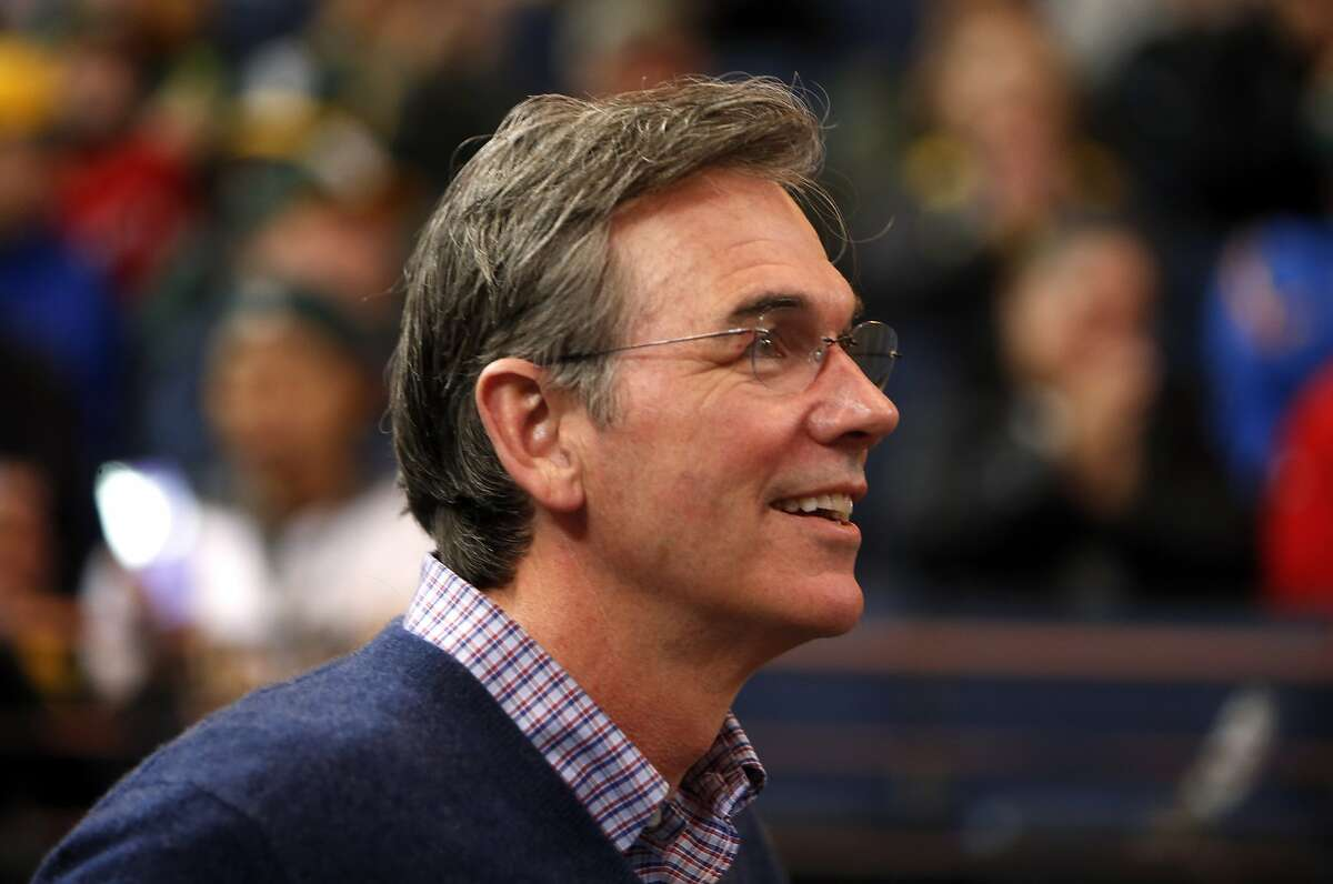 Oakland Athletics' General Manager Billy Beane during Fan Fest at Oracle Arena in Oakland, Calif. on Sunday, February 8, 2015.