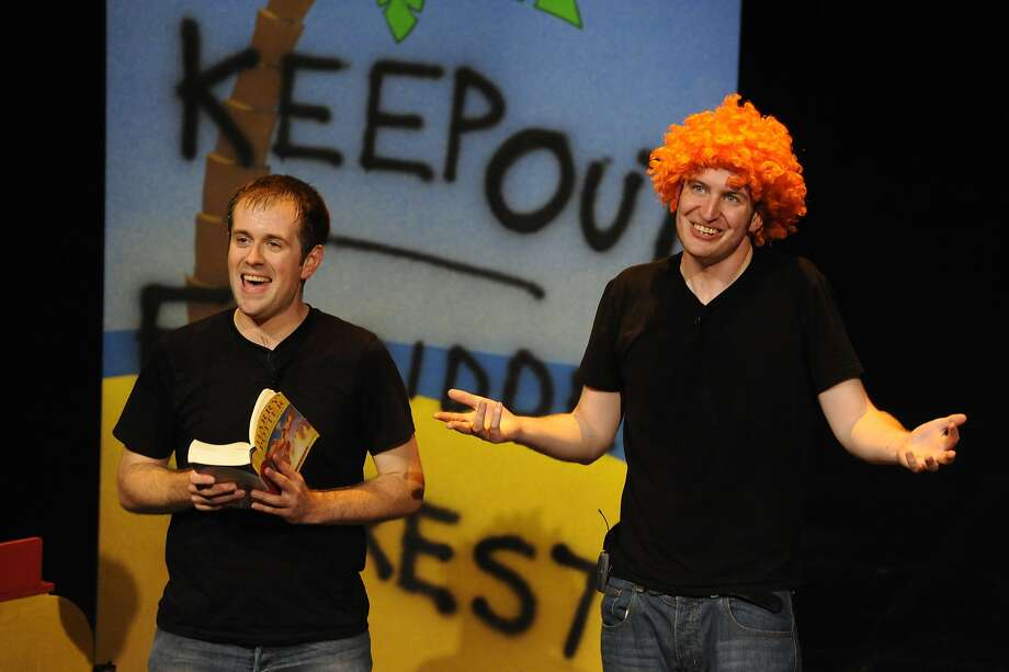 """Jefferson Turner (left) and Daniel Clarkson in """"Potted Potter."""""""