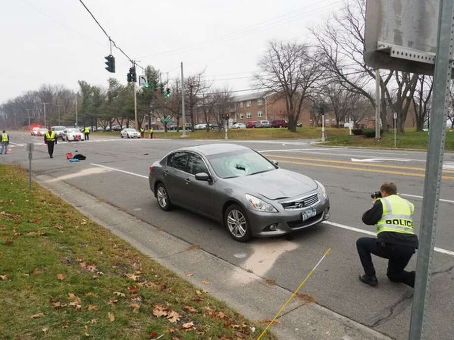Police investigate a car-pedestrian accident on Route 377, Van Rensslear Boulevard, Menands, on Wednesday, Dec. 9, 2015. (J.p. Lawrence/Times Union)
