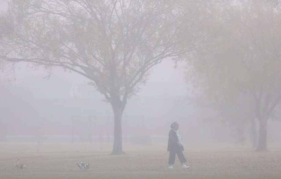 For the third morning in a row, Houston commuters woke up to a dense December fog on Wednesday, Dec. 9, 2015. Photo: Cody Duty | Houston Chronicle