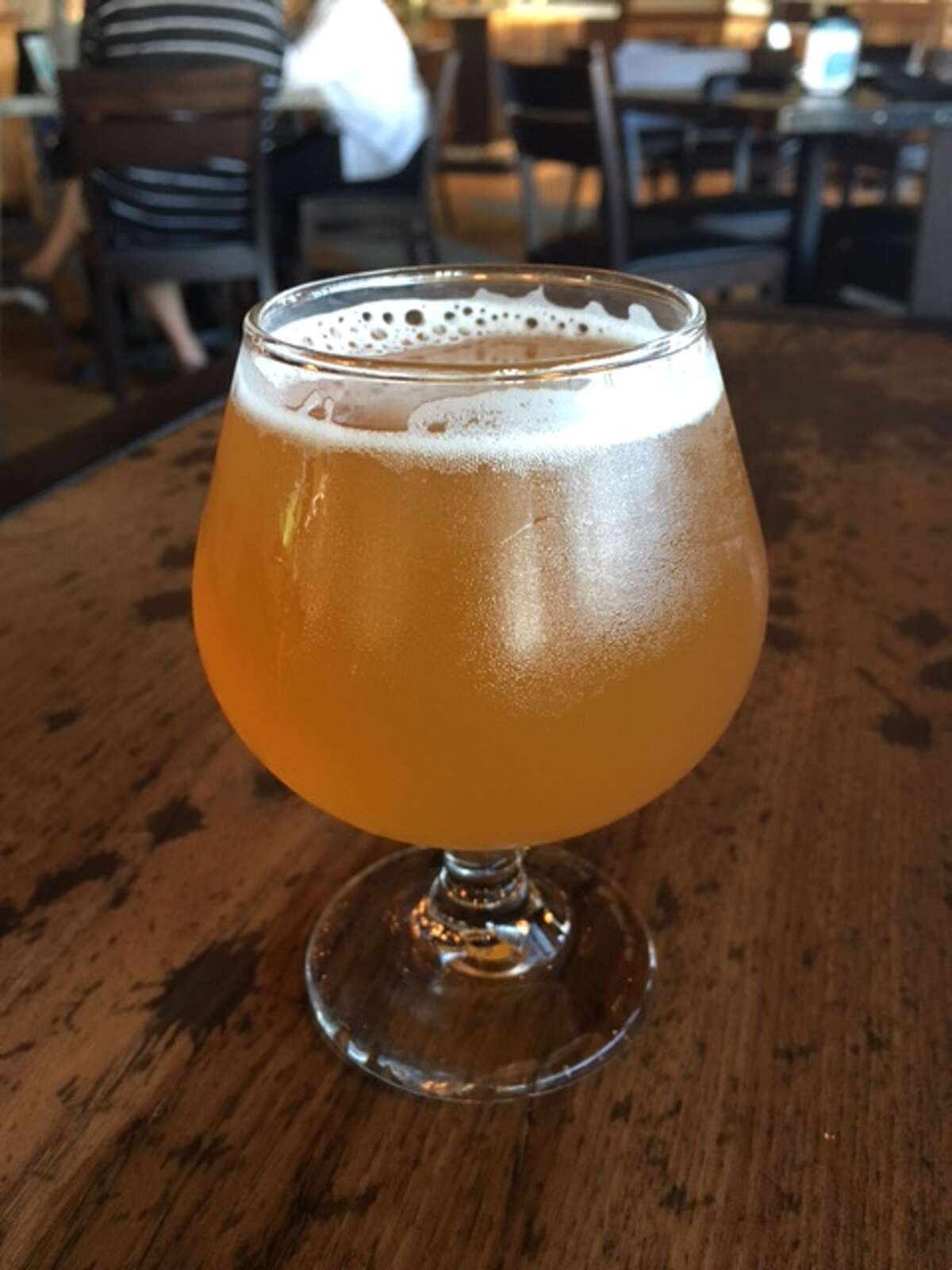 Tank 7 Saison from Boulevard Brewery in Kansas City, Missouri, one of the craft beers on tap at Pour Society.