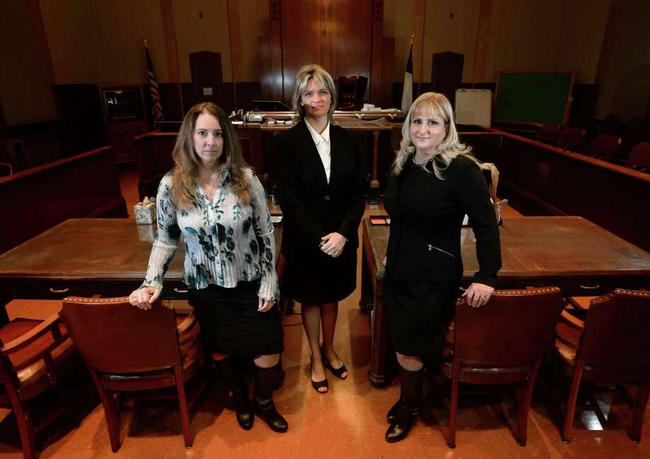 From left, Kathleen Kennedy, Ashley Molfino and Randi King are the department heads at the Jefferson County District Attorney's office. Women make up 30 percent of the assistant district attorney's in the county.   Photo taken Friday, December 4, 2015  Guiseppe Barranco/The Enterprise Photo: Guiseppe Barranco, Photo Editor