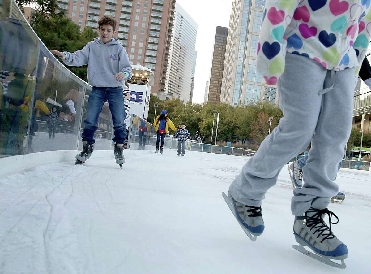 The Ice at Discovery Green is open starting in November, weather permitting.
