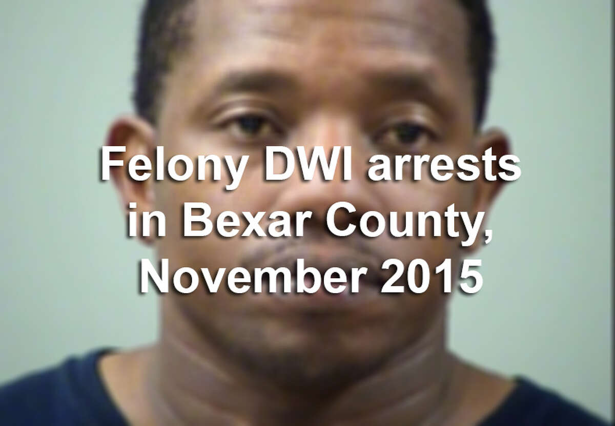 Bexar County law enforcement officers arrested 57 people on felony drunken driving charges in November 2015.Scroll through the slideshow to see their booking photos.