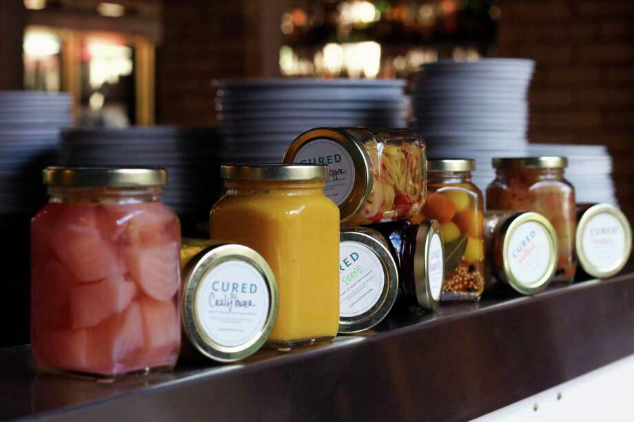 Jarred items sold at Cured restaurant make great holiday presents. Photo: Courtesy Photo