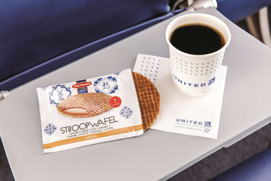 Beginning in February, United Airlines' economy passengers will receive a free stroopwafel (a Dutch, caramel-filled waffle) breakfast snack on North America and most Latin America flights.