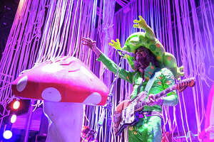 AUSTIN, TX - MAY 10:  Musician/vocalist Wayne Coyne of the Flaming Lips performs onstage during during Day 3 of Levitation Festival at Carson Creek Ranch on May 10, 2015 in Austin, Texas.  (Photo by Rick Kern/WireImage)