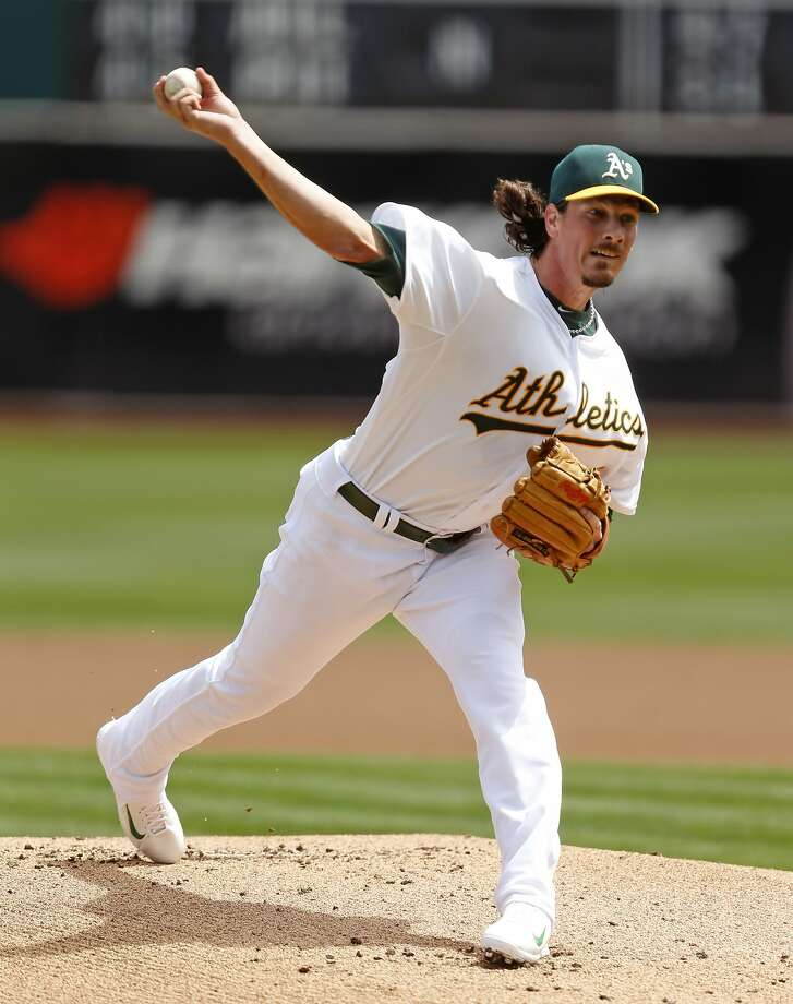 Jeff Samardzija delivers in 1st inning against New York Mets during MLB game at O.co Coliseum in Oakland, Calif. on Wednesday, August 20, 2014. Photo: Scott Strazzante, The Chronicle