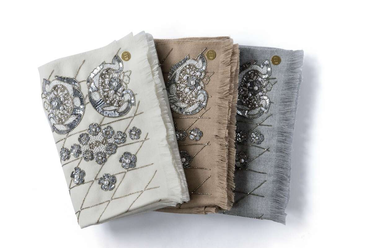 These limited-edition throws are a collaboration between St. Frank and Mignonne Gavigan made from Peruvian baby alpaca ($375, St. Frank San Francisco, 3665 Sacramento St. and www.stfrank.com) and available through the end of the year.