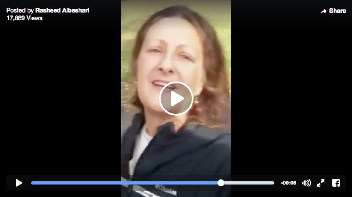 Denise Slader, an employee of the California Department of Corrections, confronted two men of Middle Eastern descent, who were praying near the entrance to Lake Chabot Regional Park around 3 p.m. Sunday, said Carolyn Jones, a spokeswoman for the park service.