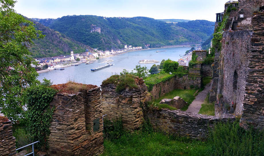 Rheinfels Castle, above the pleasant German town of St. Goar, boasts a commanding view of the Rhine Valley. Photo: Sandra Hundacker / ONLINE_YES