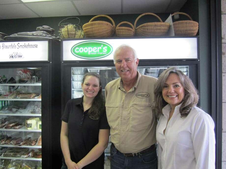 Sophie Corak, Mike Johnson, Tricia Johnson, Cooper's Meat Market. Photo: Jessica Elizarraras, Staff / San Antonio Express-News / San Antonio Express-News