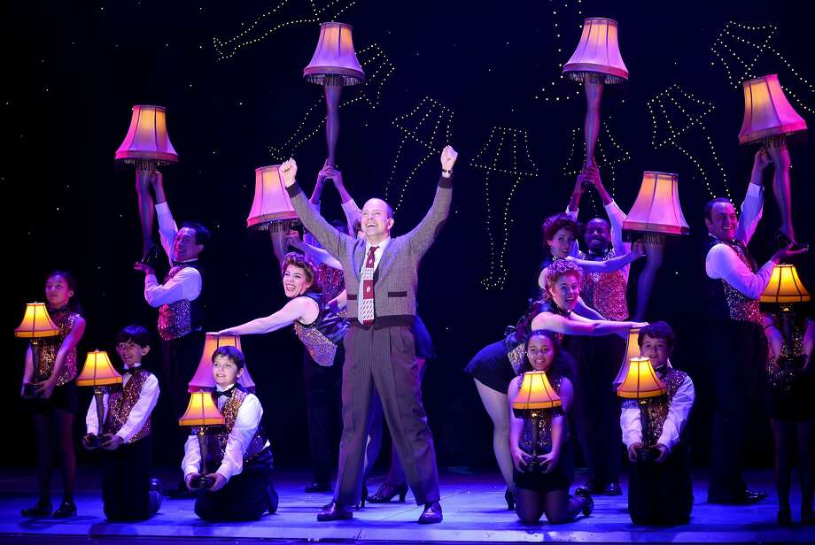 christopher swan as ralphies dad sings an ode to his leg lamp prize in