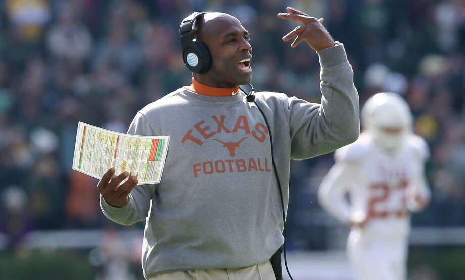 Texas head coach Charlie Strong gives direction during the first half against Baylor on Dec. 5, 2015, in Waco. Photo: LM Otero /Associated Press / AP