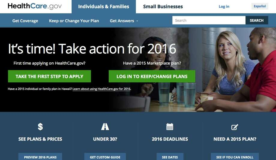 Experts say consumers who buy insurance under the federal health law should do the math to ensure their plan suits their situation. (Screenshot/TNS) Photo: Screenshot, HO / HealthCare.gov