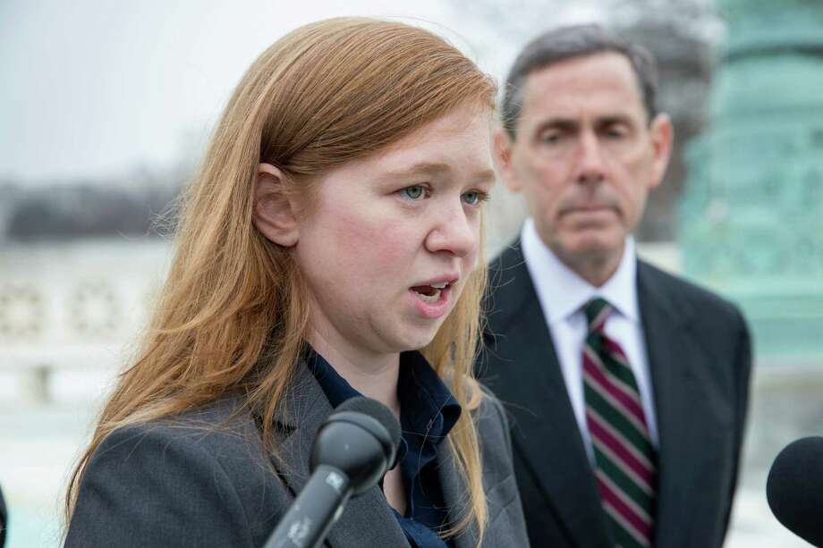 One of the cases to be decided without Scalia: Sugar Land resident Abigail Fisher's challenge to the use of race in college admissions. Photo: J. Scott Applewhite, STF / AP