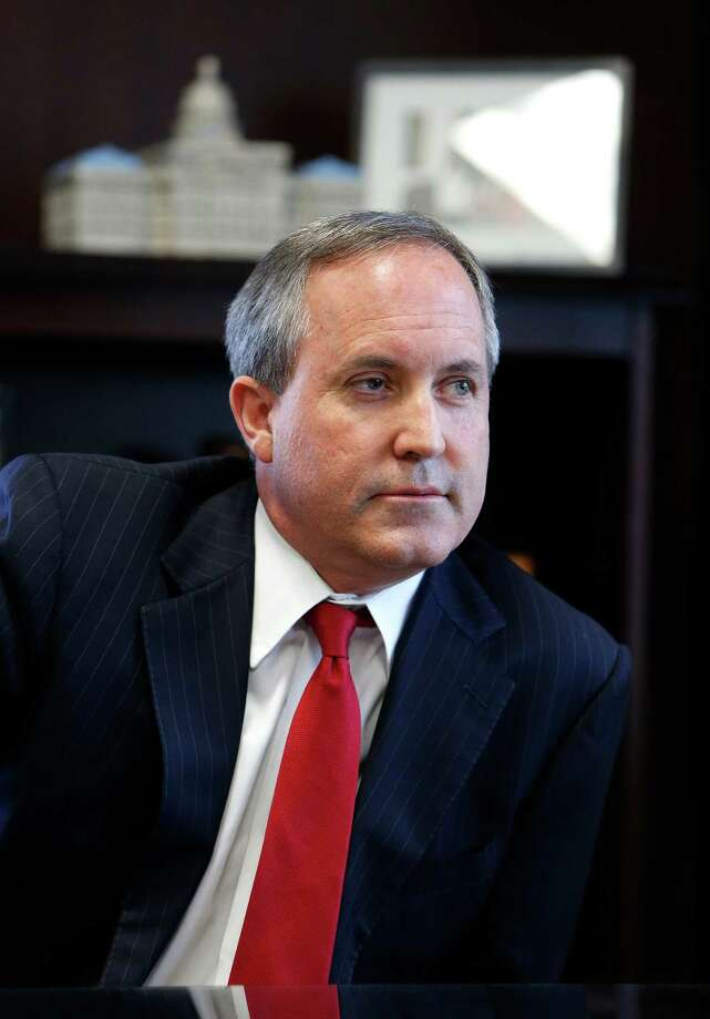 Texas Attorney General Ken Paxton is shown inside his Austin office in October. Photo: Mark Mulligan, Staff / Â 2015 Houston Chronicle