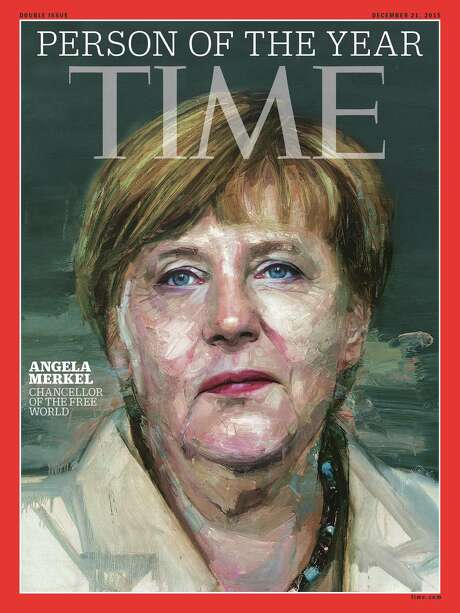German Chancellor Angela Merkel is the fourth woman to be so honored by Time magazine.  Photo: HO, Handout / AFP