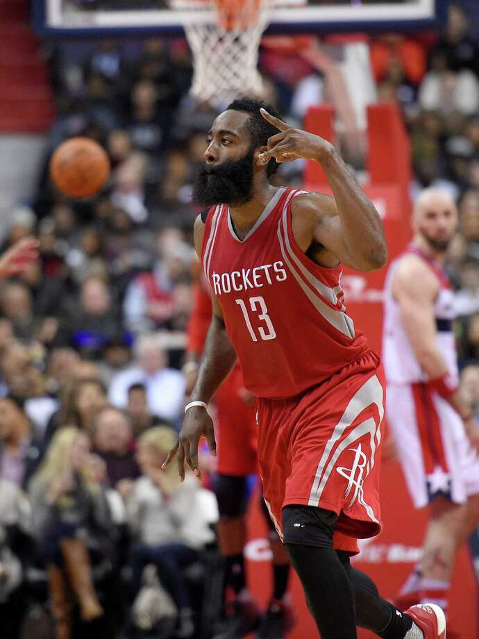 James Harden bounced back from Tuesday's off night to score 42 against the Wizards. Photo: Nick Wass, FRE / FR67404 AP