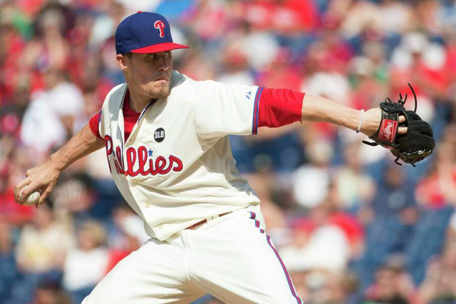 Righthander Ken Giles provides the Astros bullpen with an element it sometimes lacked last season - swing-and-miss stuff. The reliever has struck out 151 batters over 1152⁄3 innings in two seasons with the Phillies, posting a combined ERA of 1.56. Photo: Chris Szagola, FRE / FR170982 AP