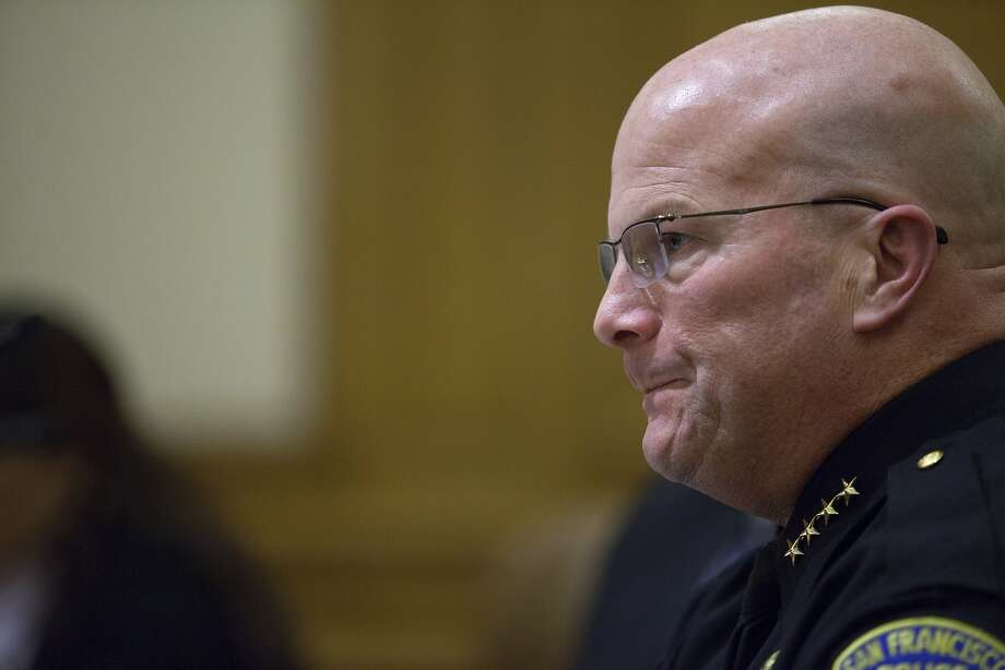 Police chief Greg Suhr listens in during a public meeting at San Francisco City Hall, Wednesday, Dec. 9, 2015, in San Francisco, Calif. The S.F. Police Commission met inside City Hall and talked about the possibility of equipping police officers with Tasers following the fatal shooting of Mario Woods. It's a proposal that was turned down twice by the commission in recent years. Woods' case has brought the proposal back. Woods was shot and killed by police officers after police say Woods was armed with a knife and walked toward officers. Photo: Santiago Mejia, Special To The Chronicle