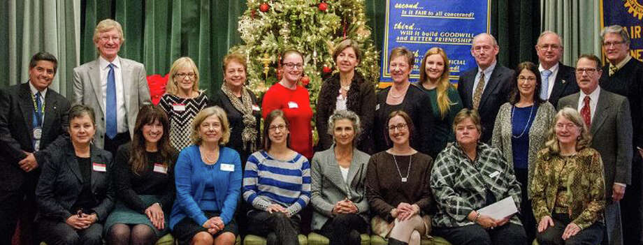 Fairfield Rotary Club officials join recipients of the organization's nearly $25,000 in community grants for 2015 at a recent meeting. Photo: Contributed / Contributed Photo / Fairfield Citizen